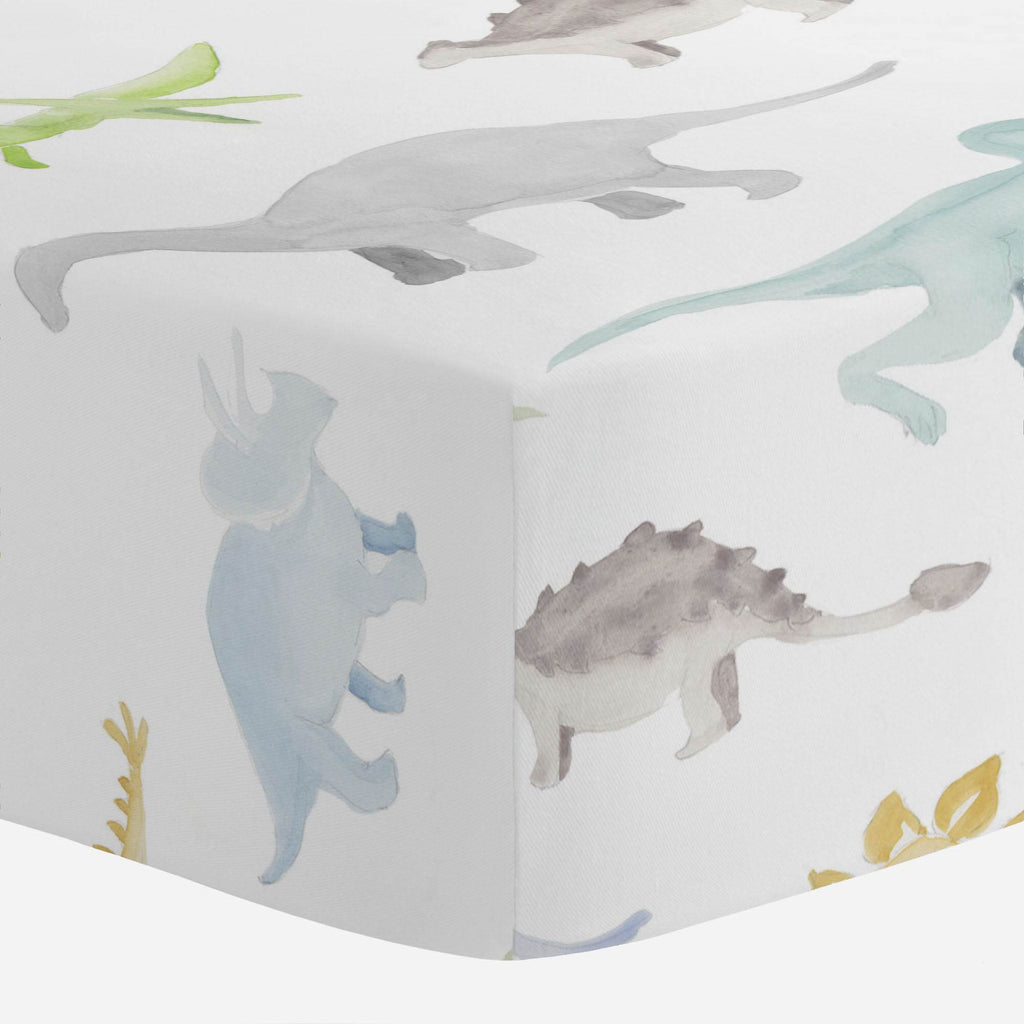 Product image for Watercolor Dinosaurs Crib Sheet