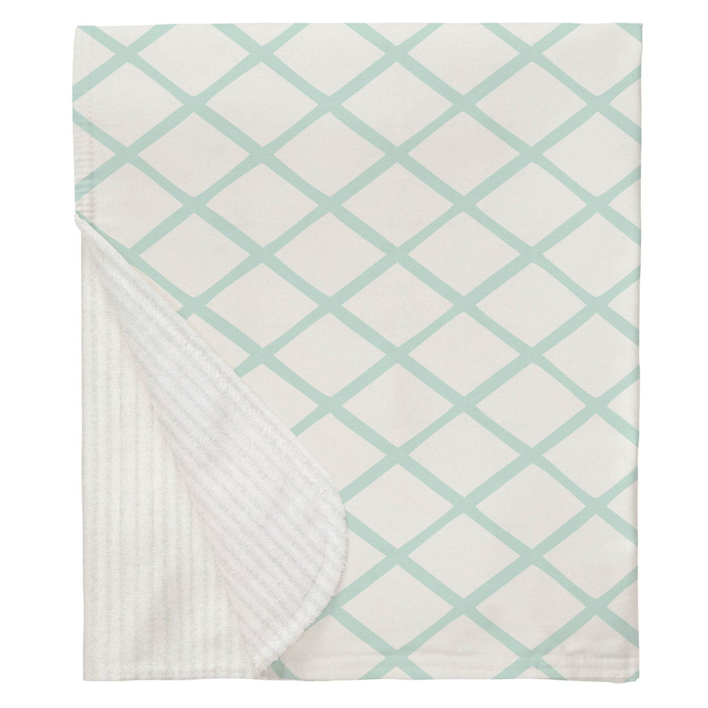 Product image for Icy Mint Trellis Baby Blanket