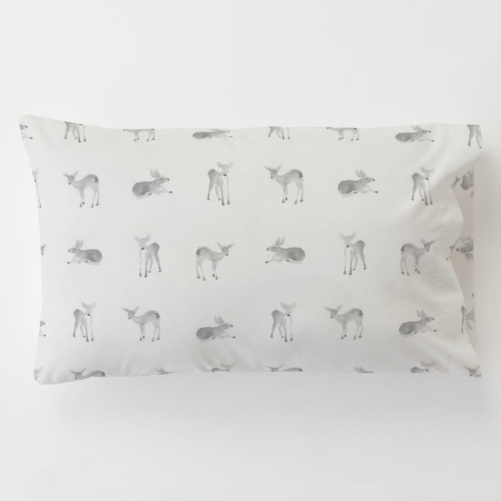 Product image for Silver Gray Fawns Toddler Pillow Case with Pillow Insert