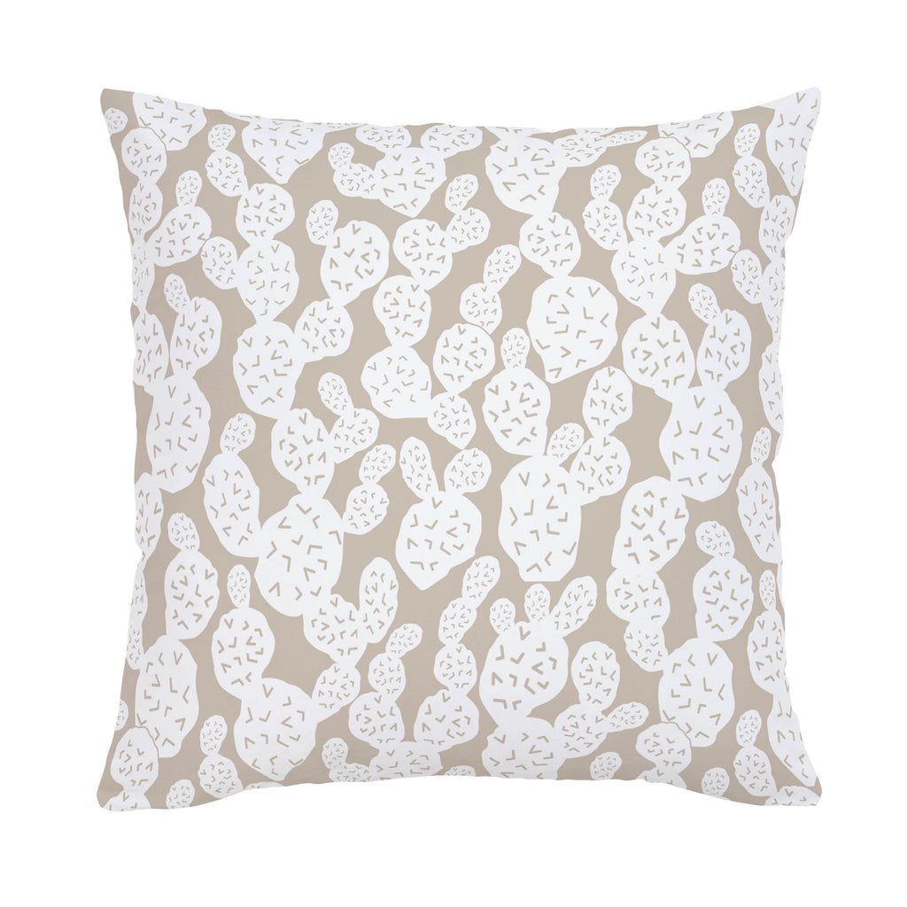 Product image for Taupe Prickly Pear Throw Pillow