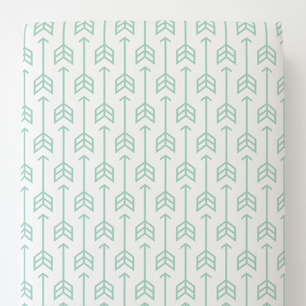 Product image for Mint Arrow Toddler Sheet Bottom Fitted