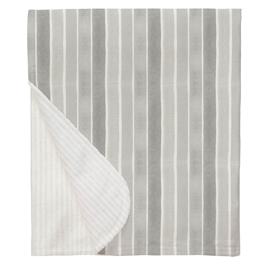 Product image for Gray Watercolor Stripe Baby Blanket