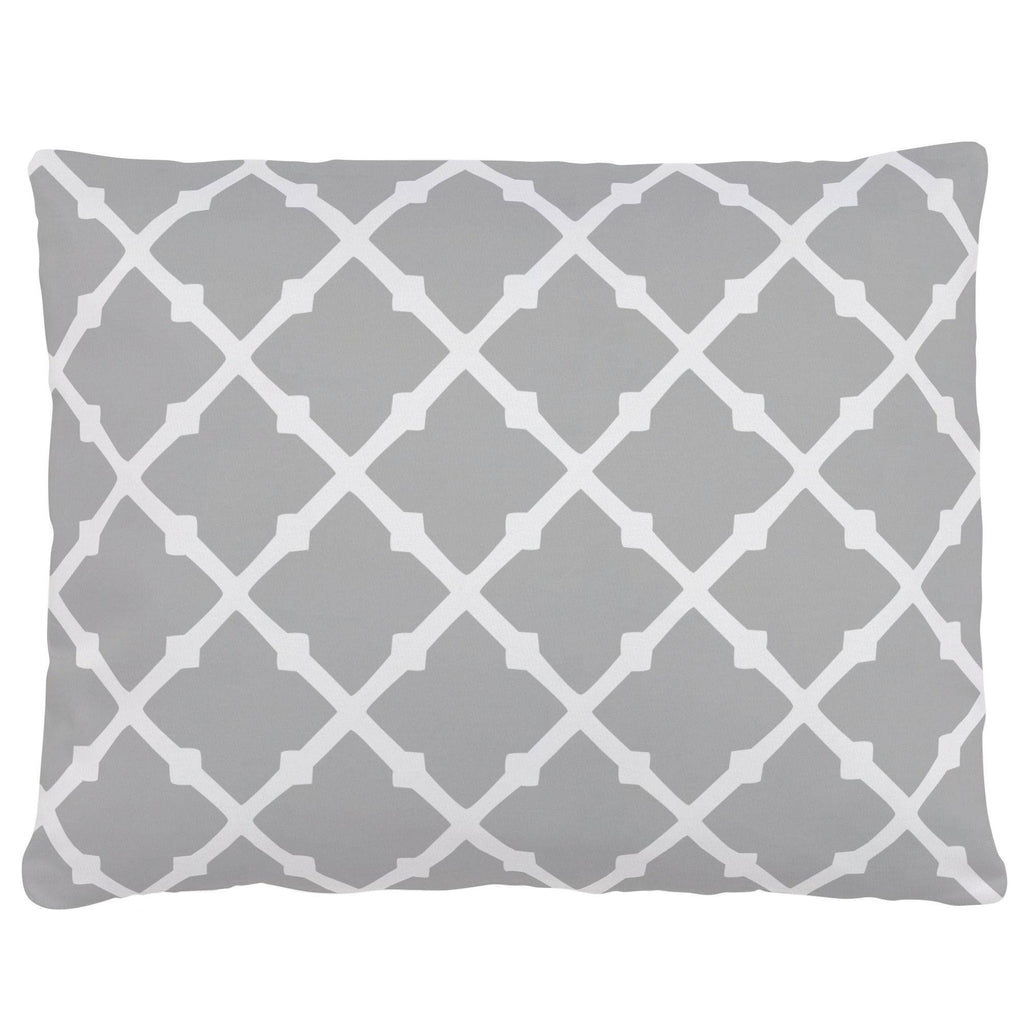 Product image for Silver Gray Lattice Accent Pillow