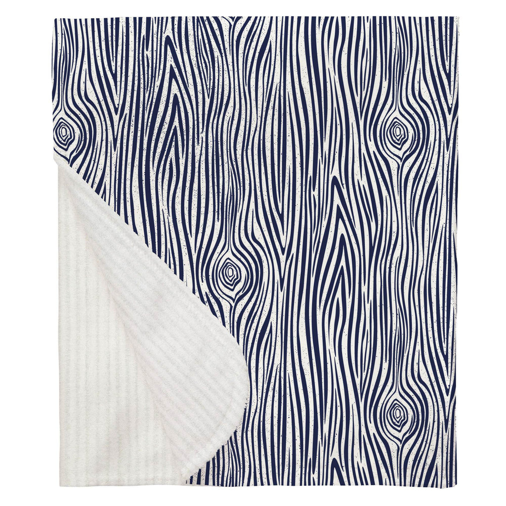 Product image for Navy Woodgrain Baby Blanket