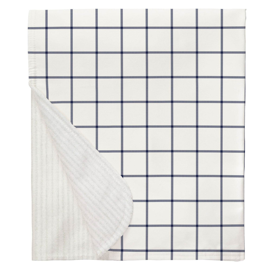 Product image for Navy Windowpane Baby Blanket