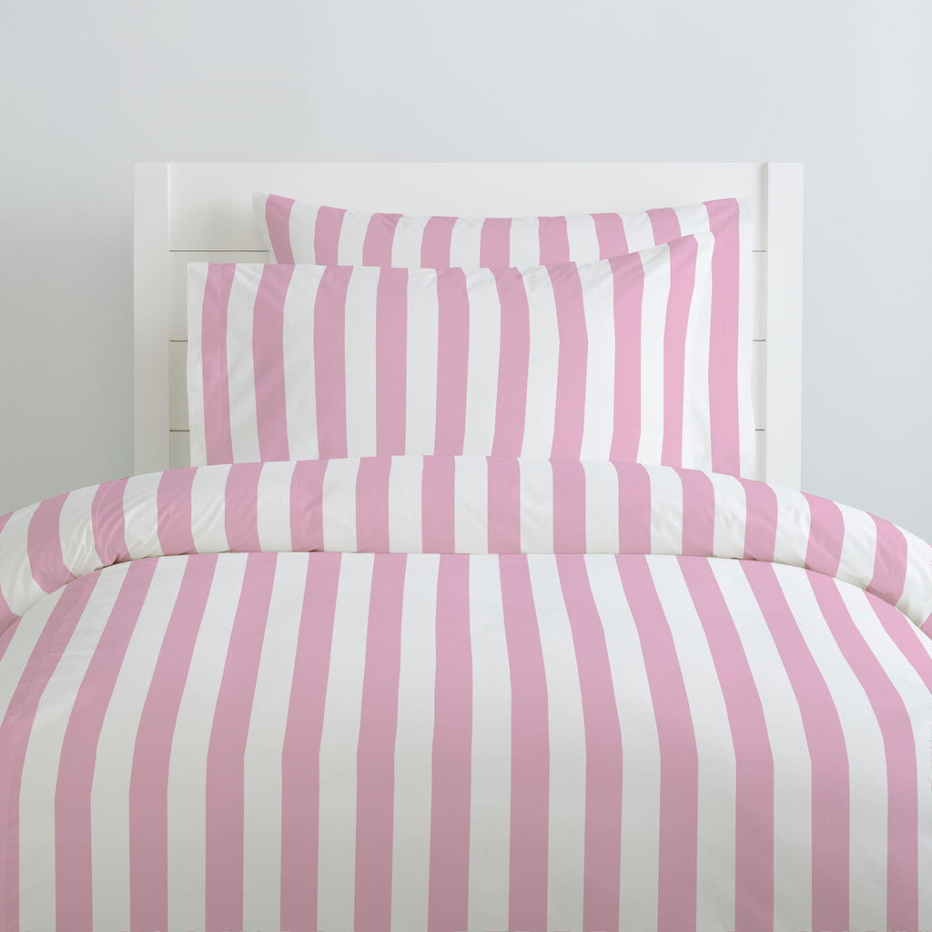 Product image for Bubblegum Pink Stripe Duvet Cover
