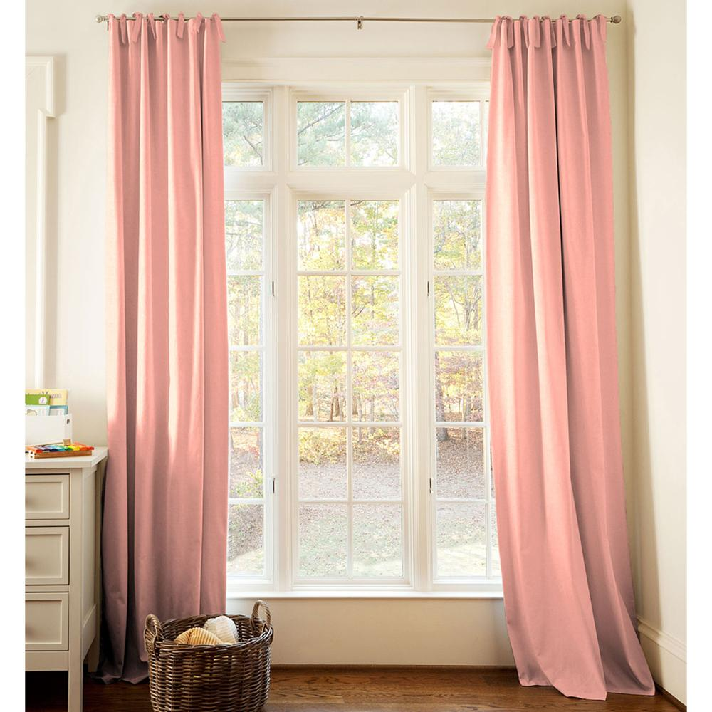 Product image for Solid Light Coral Drape Panel with Ties