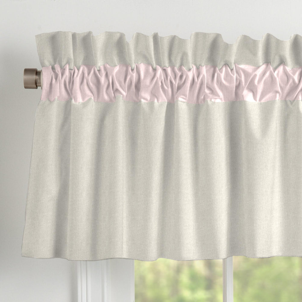 Product image for Light Pink and Flax Linen Window Valance