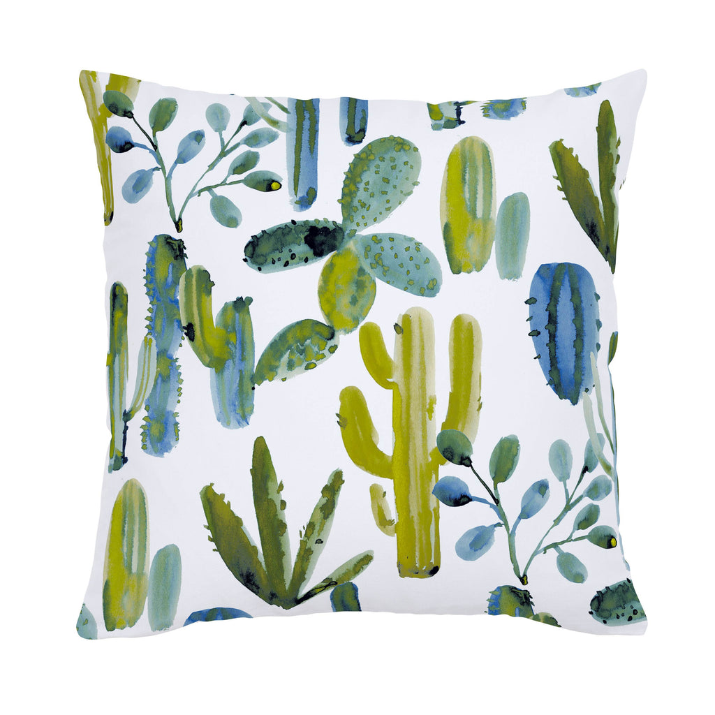 Product image for Blue Painted Cactus Throw Pillow