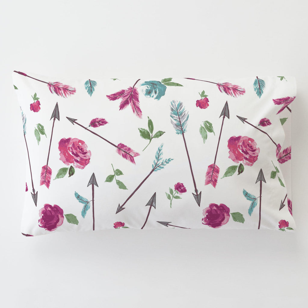 Product image for Floral Arrow Toddler Pillow Case with Pillow Insert