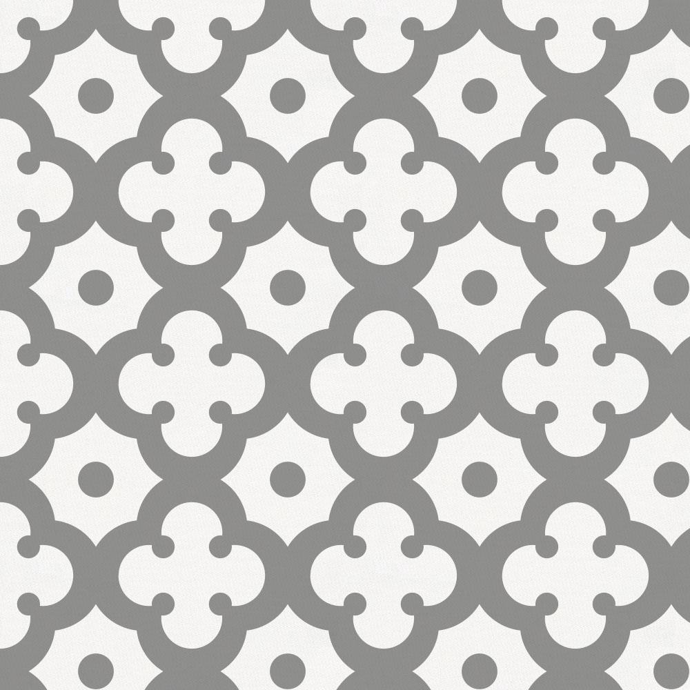 Product image for Cloud Gray Moroccan Tile Fabric