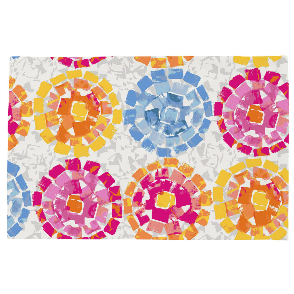 Product image for Pink and Blue Modern Mosaic Toddler Pillow Case