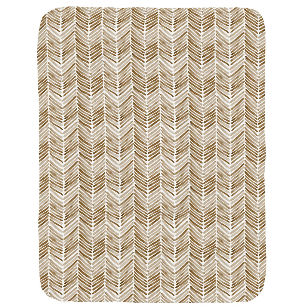 Product image for Caramel Painted Chevron Crib Comforter