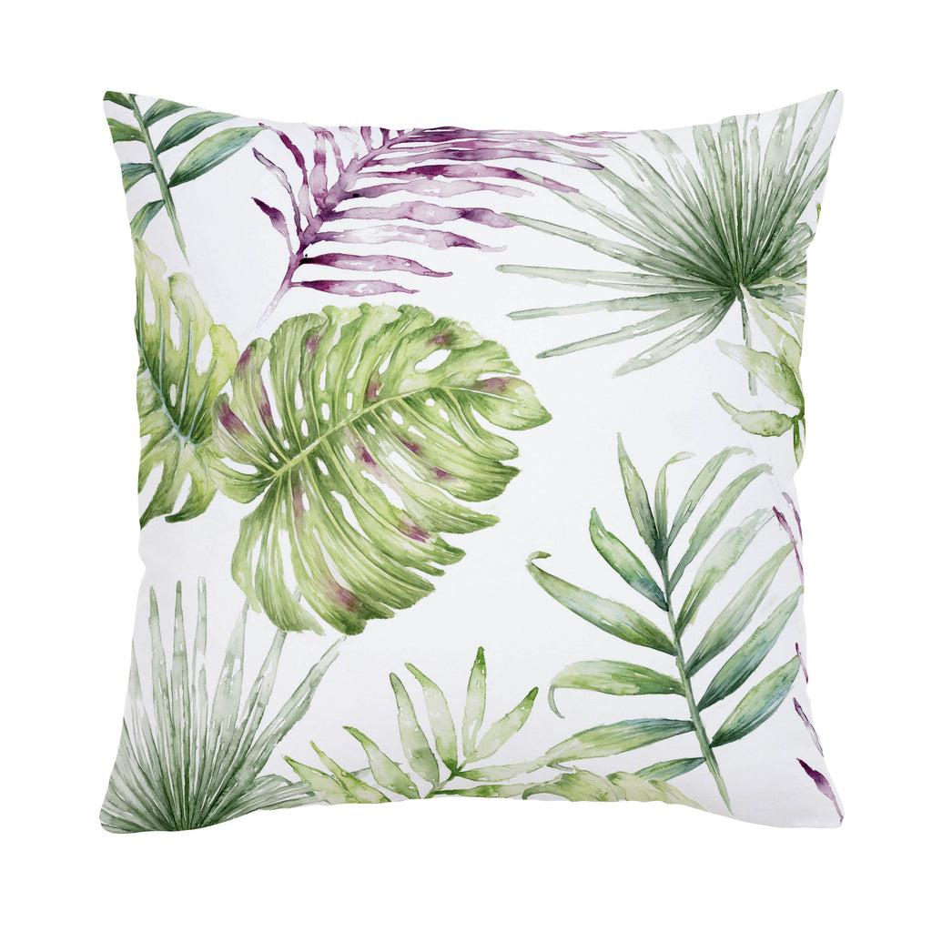 Product image for Purple Painted Tropical Throw Pillow