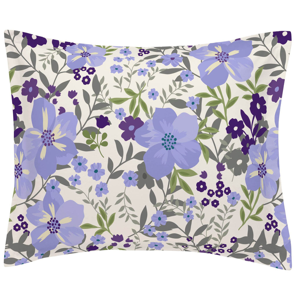 Product image for Lavender Floral Tropic Pillow Sham