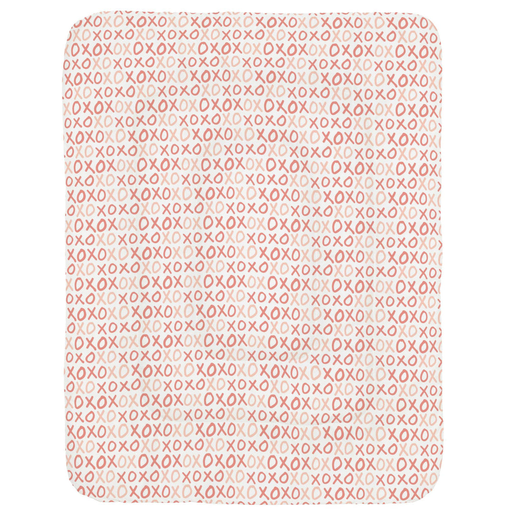 Product image for Light Coral and Peach XO Crib Comforter