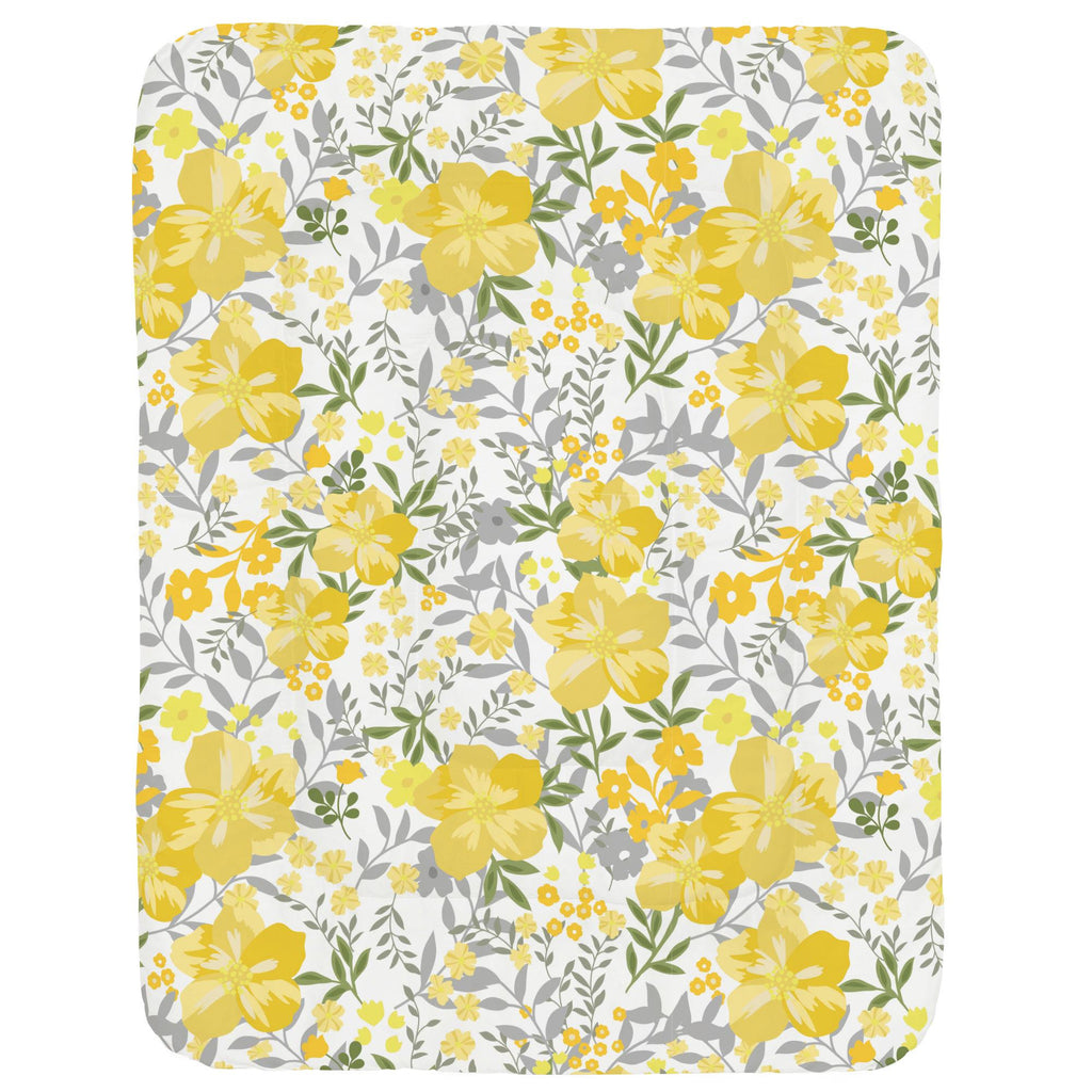 Product image for Yellow Floral Tropic Crib Comforter