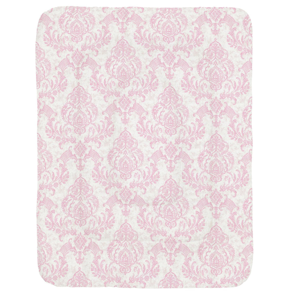 Product image for Pink Painted Damask Crib Comforter