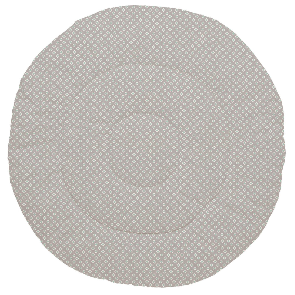 Product image for Taupe and Mint Diamond Baby Play Mat
