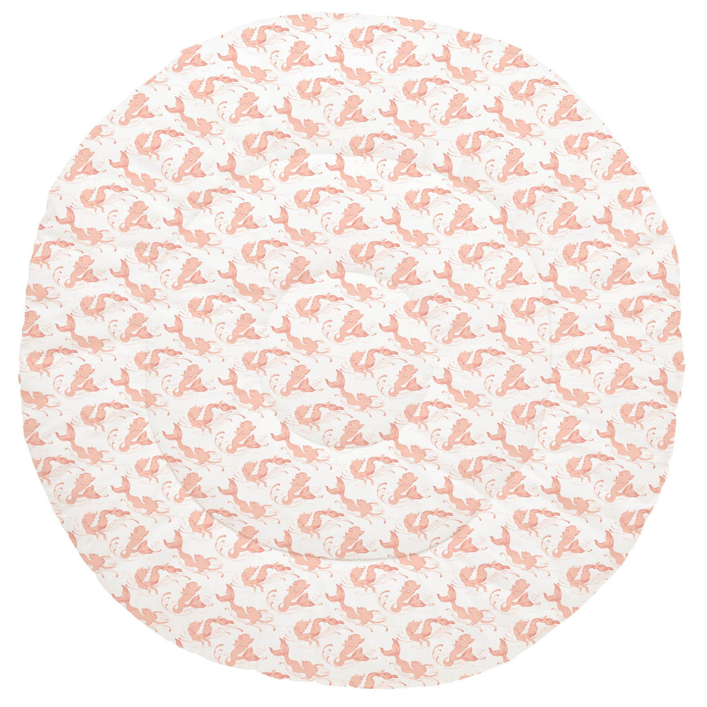 Product image for Peach Swimming Mermaids Baby Play Mat