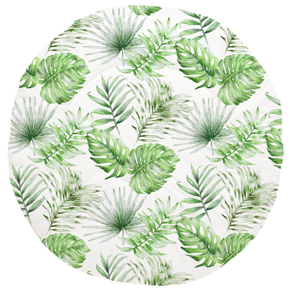 Product image for Green Painted Tropical Baby Play Mat