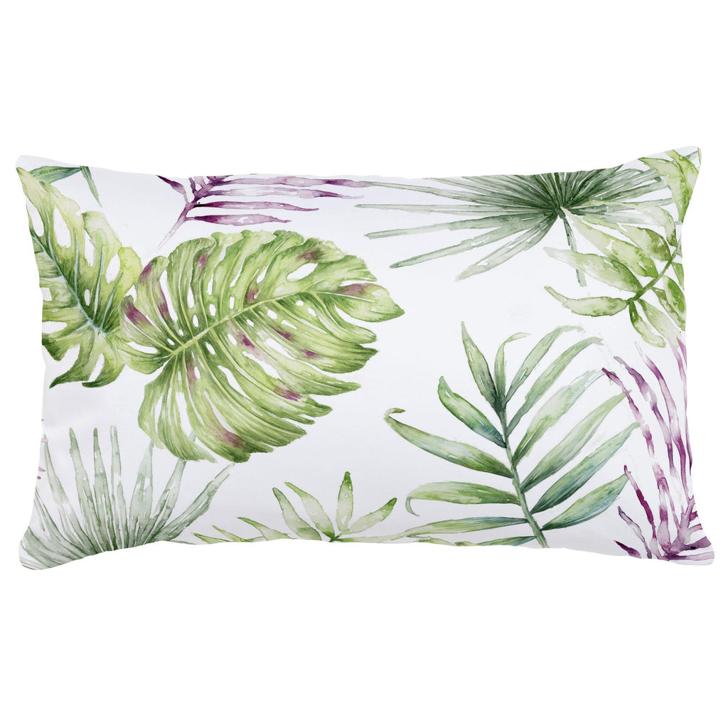 Product image for Purple Painted Tropical Lumbar Pillow