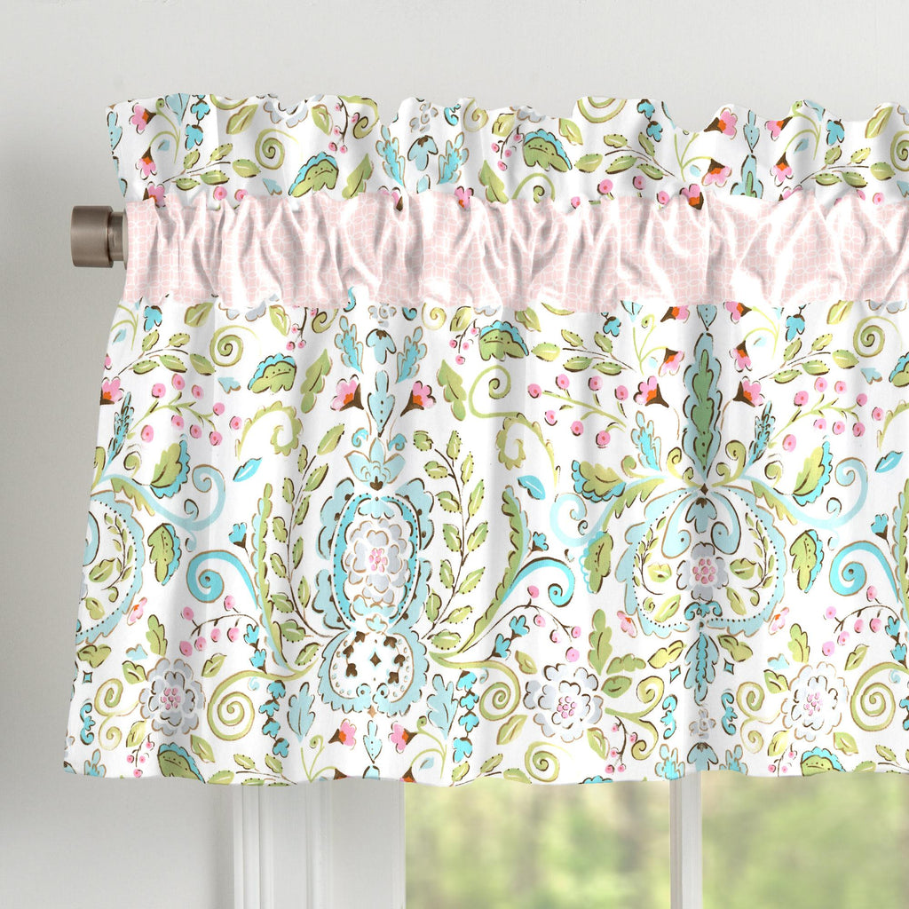 Product image for Love Bird Damask Window Valance
