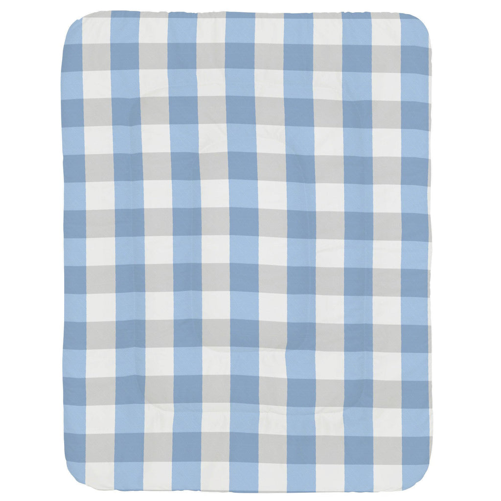 Product image for Blue and Silver Gray Buffalo Check Crib Comforter