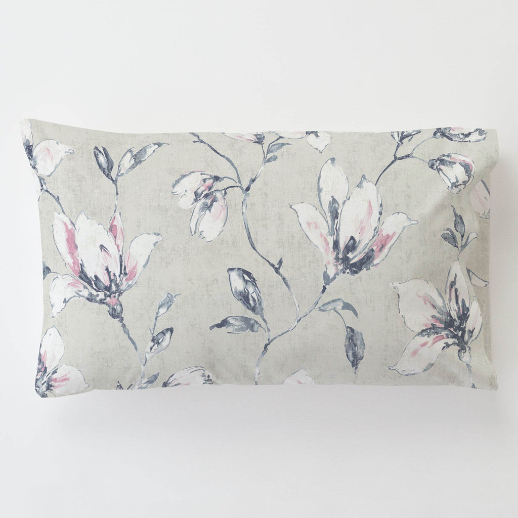 Product image for Pink and Blue Painted Lilies Toddler Pillow Case with Pillow Insert