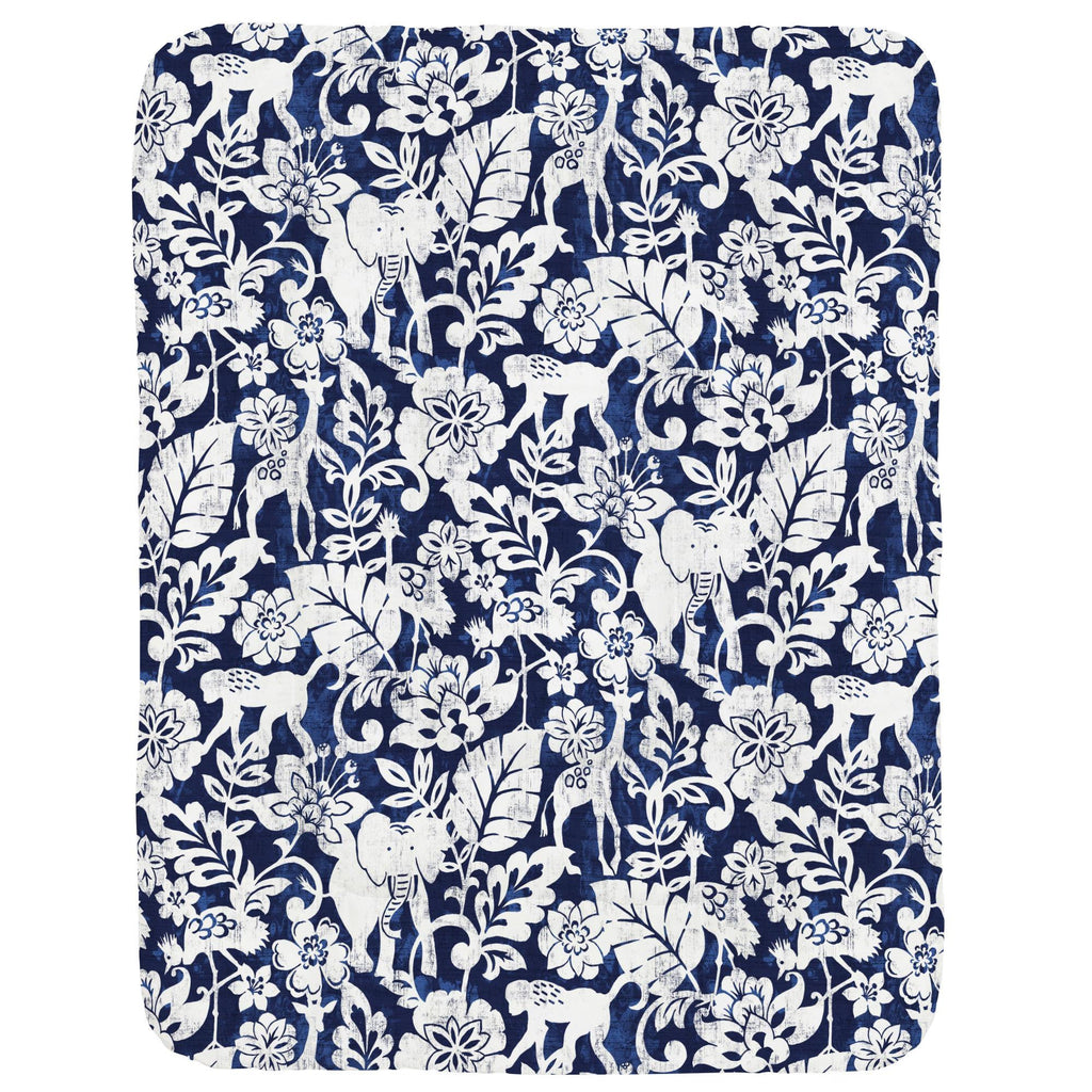 Product image for Navy and White Jungle Crib Comforter