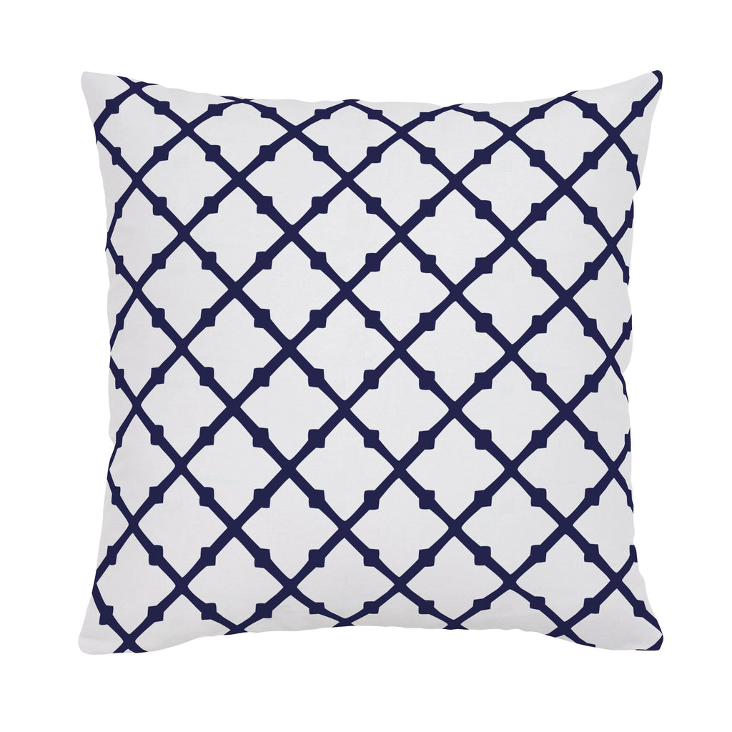 Product image for Windsor Navy Lattice Throw Pillow