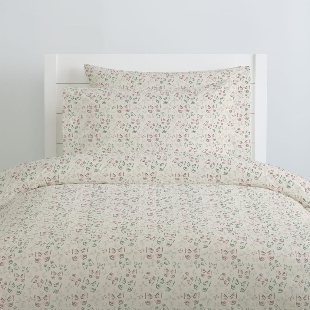 Product image for Blush and Ivory Butterfly Duvet Cover