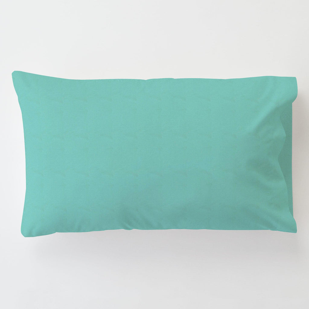 Product image for Solid Teal Toddler Pillow Case with Pillow Insert