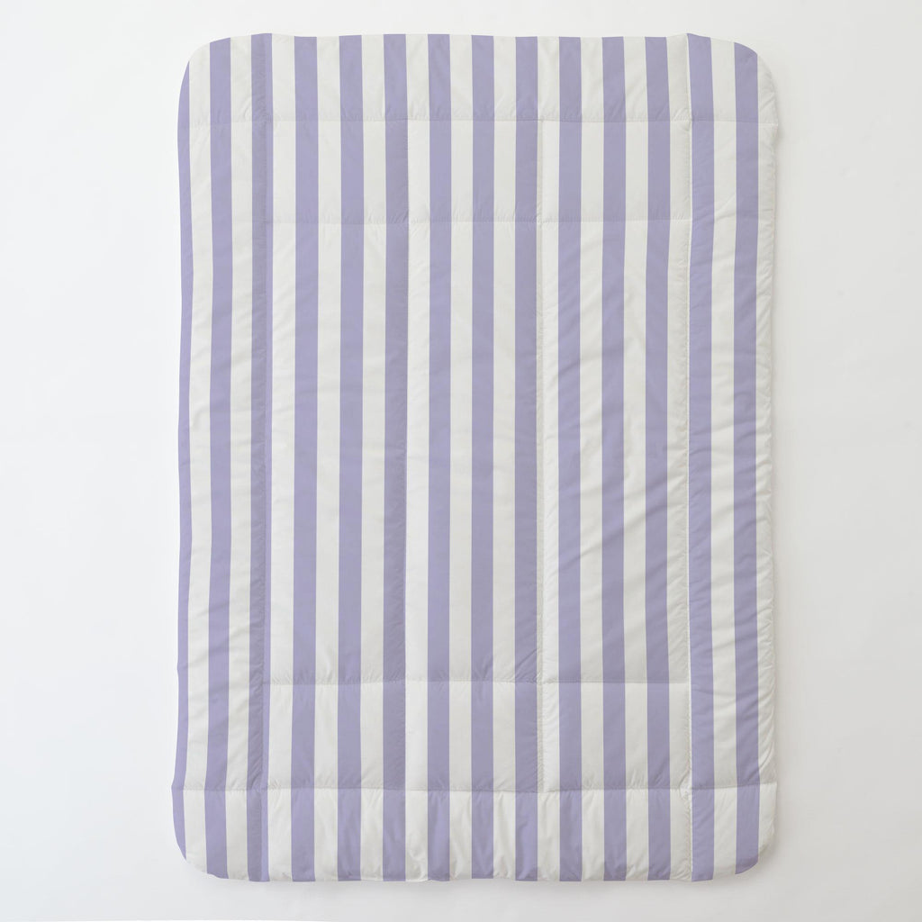 Product image for Lilac Stripe Toddler Comforter