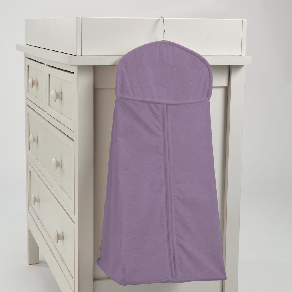 Product image for Solid Aubergine Purple Diaper Stacker