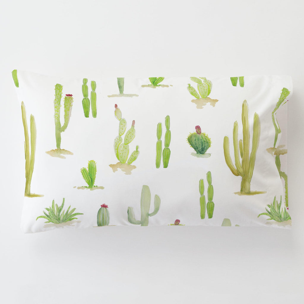 Product image for Watercolor Cactus Toddler Pillow Case with Pillow Insert