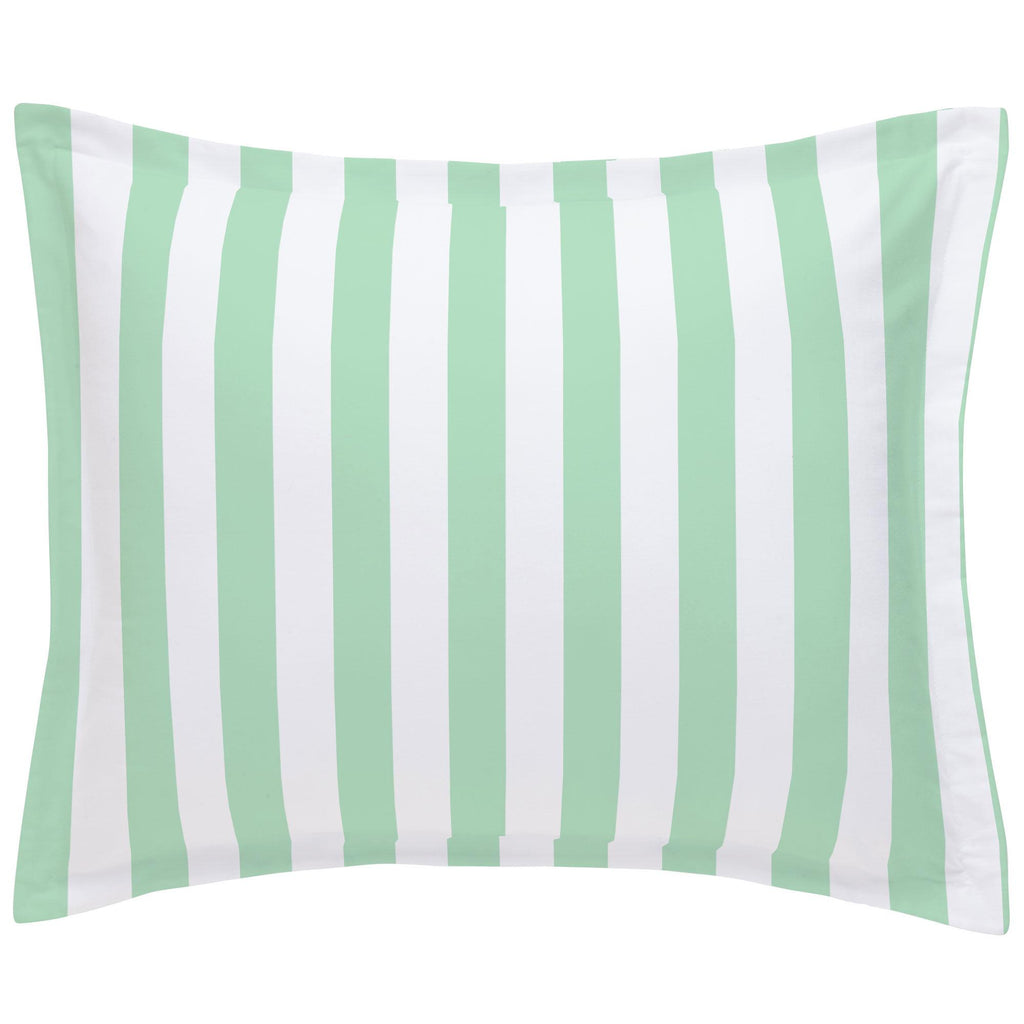 Product image for Mint Stripe Pillow Sham