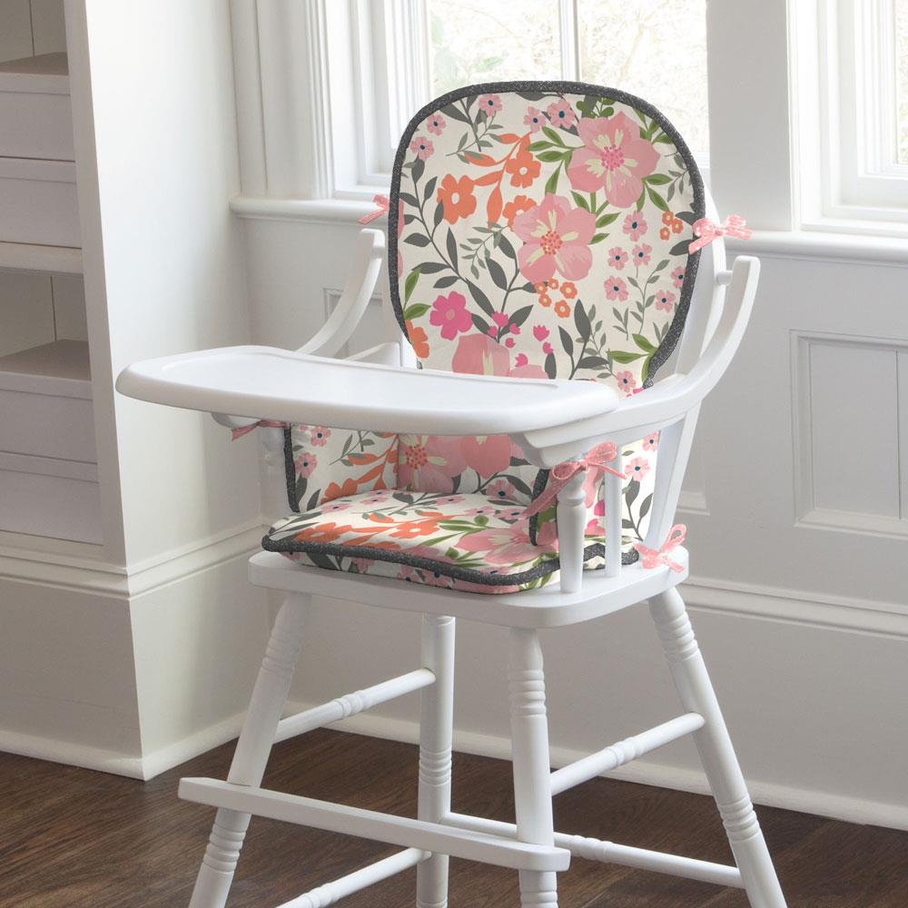 Product image for Pink and Orange Floral Tropic High Chair Pad