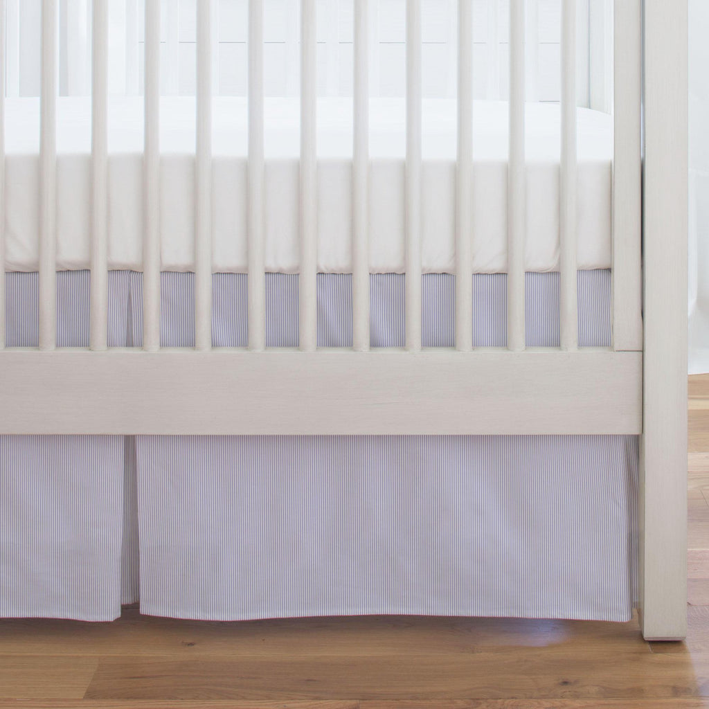 Product image for Lilac Mini Stripe Crib Skirt Single-Pleat