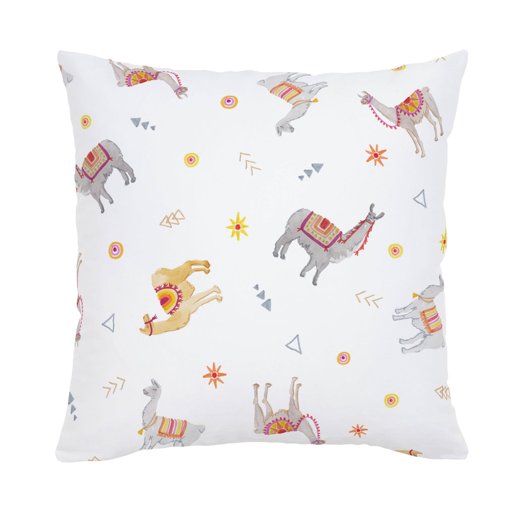 Product image for Festive Llamas Throw Pillow