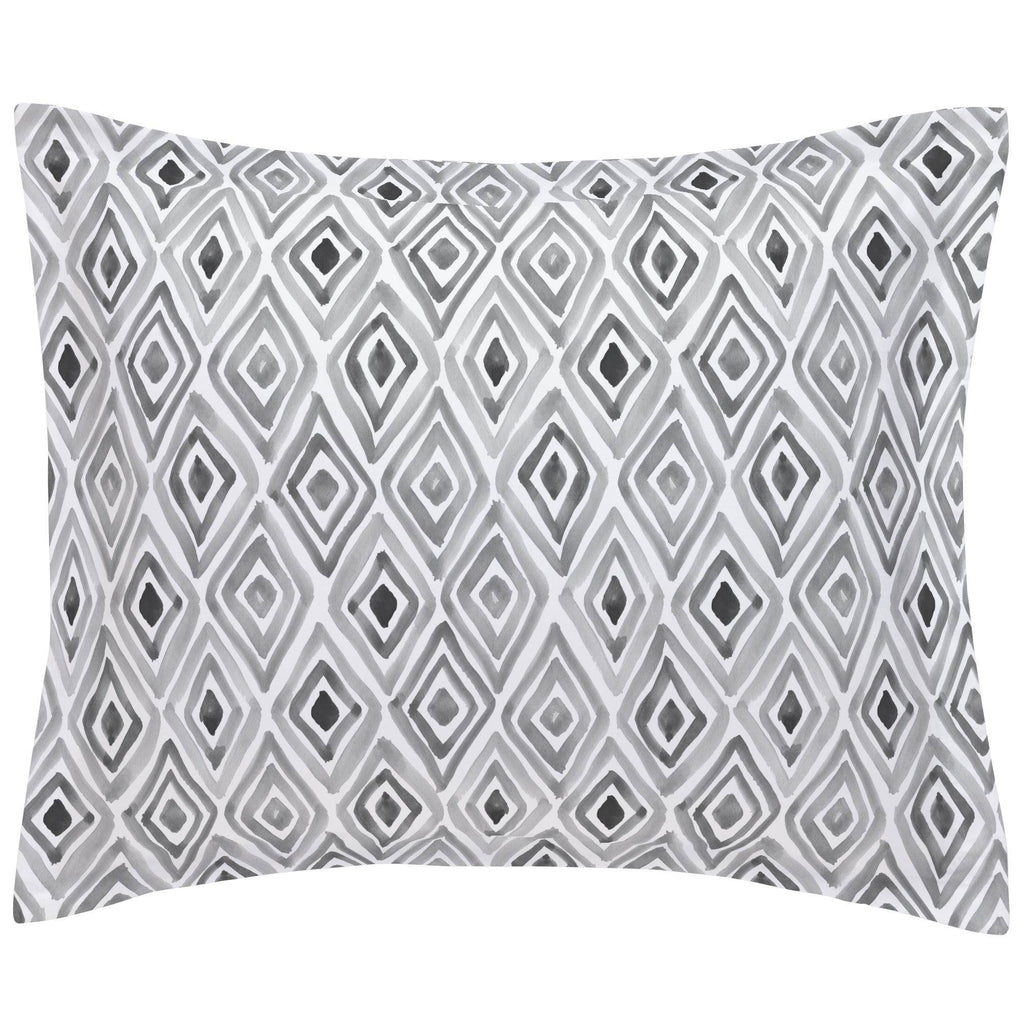 Product image for Gray Painted Diamond Pillow Sham