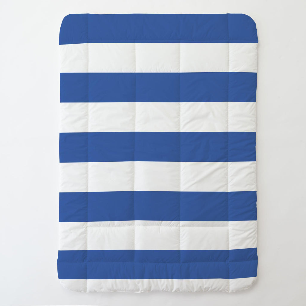 Product image for Ocean Blue Horizontal Stripe Toddler Comforter