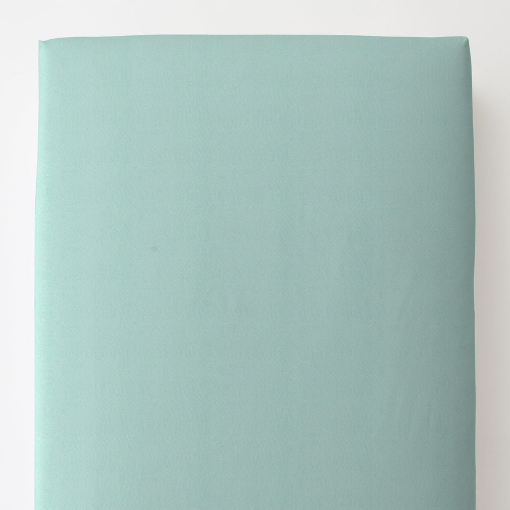 Product image for Solid Seafoam Aqua Toddler Sheet Bottom Fitted