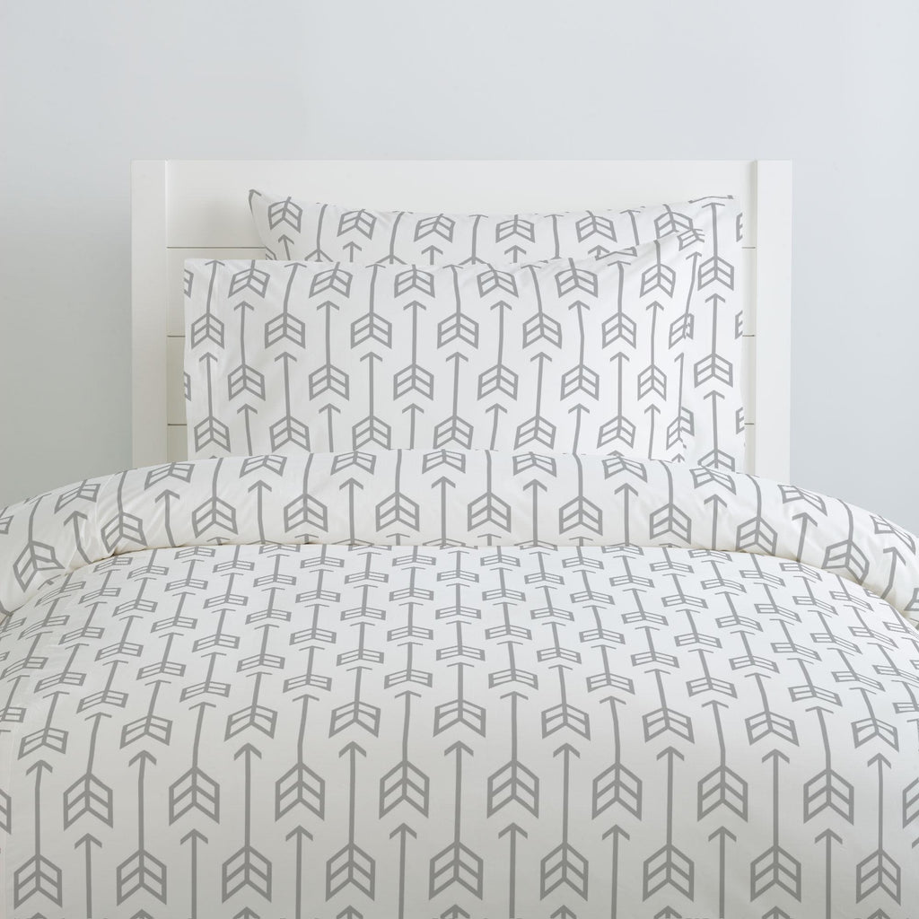 Product image for Silver Gray Arrow Duvet Cover