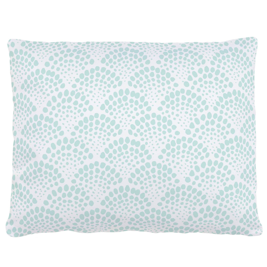 Product image for Icy Mint Scallop Dot Accent Pillow