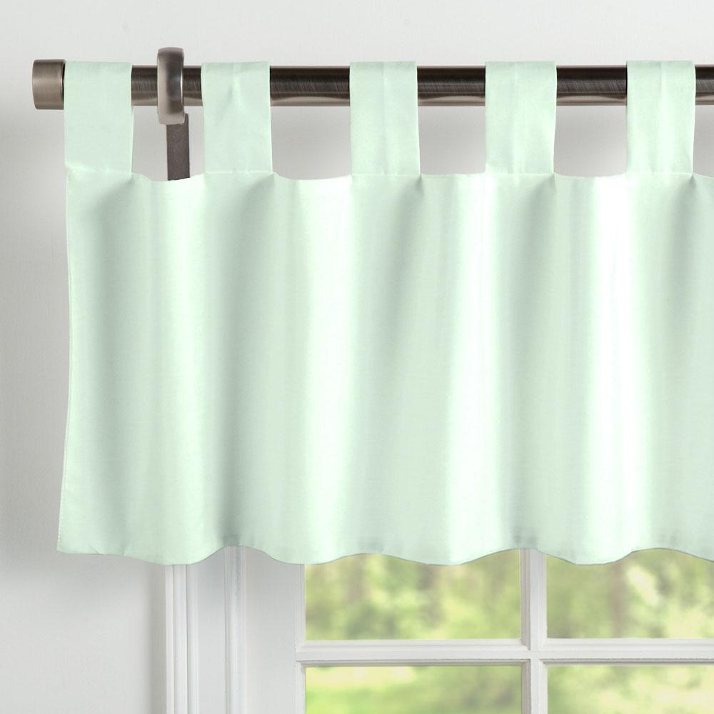 Product image for Solid Icy Mint Window Valance Tab-Top