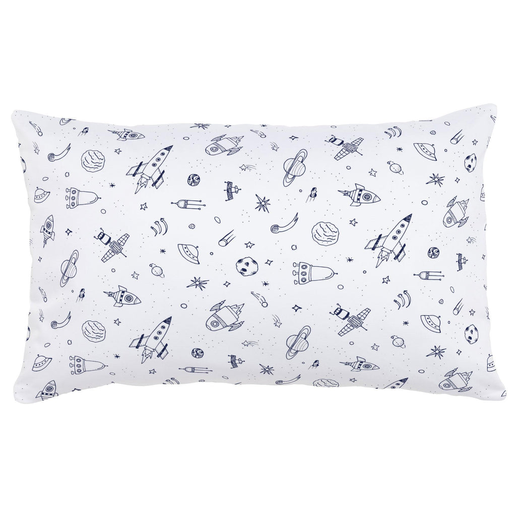 Product image for Windsor Navy and White Rockets Lumbar Pillow
