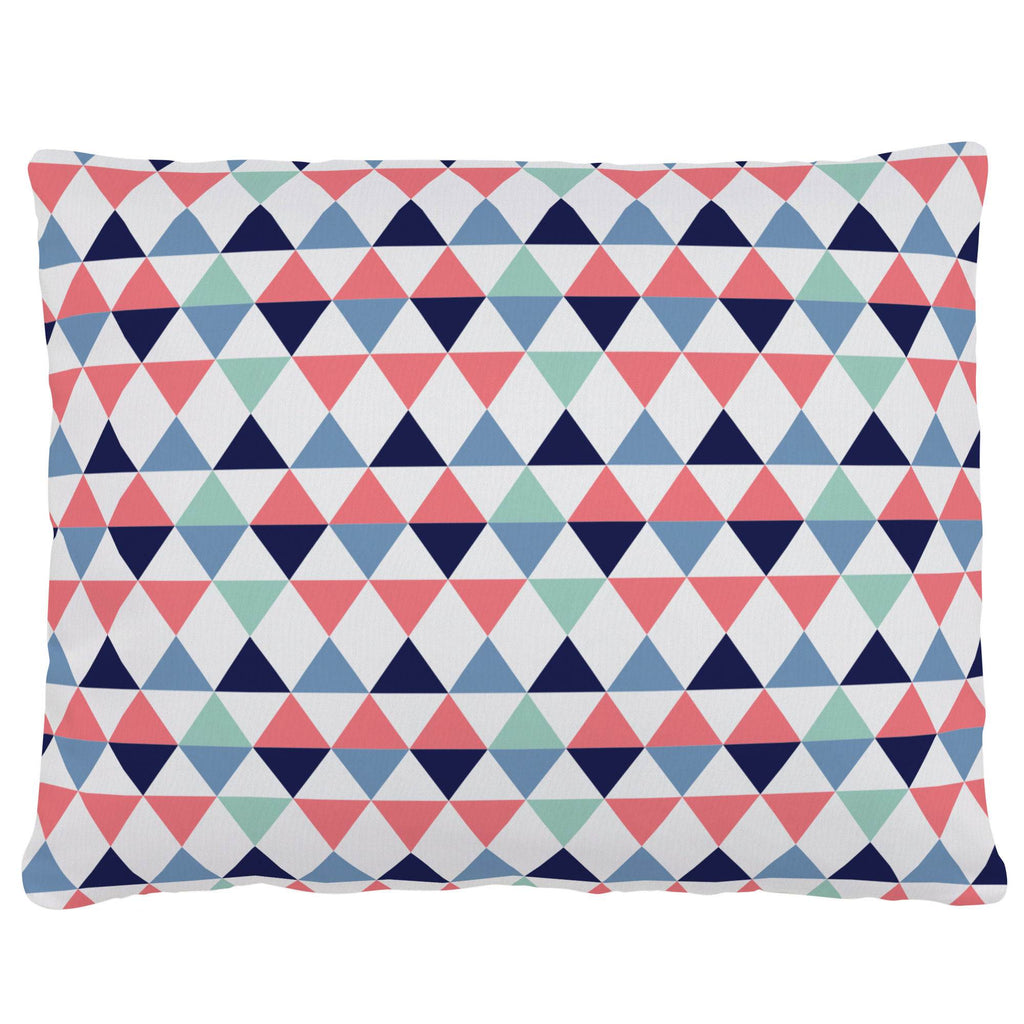 Product image for Coral and Mint Triangles Accent Pillow