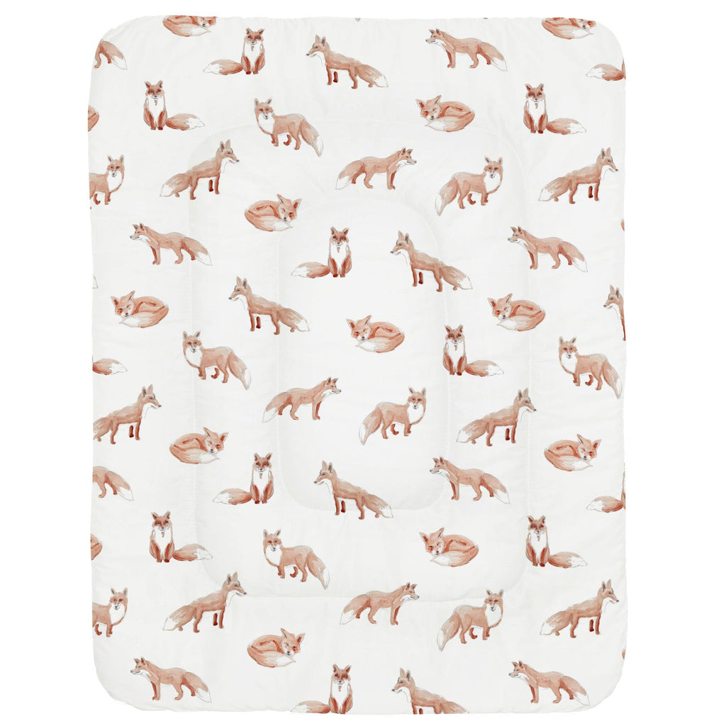 Product image for Watercolor Fox Crib Comforter