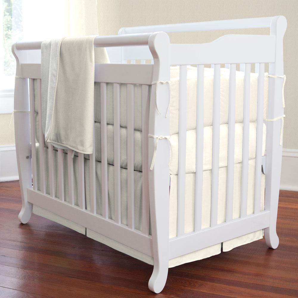 Product image for Solid Ivory Mini Crib Bumper
